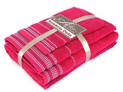 uteráky a osušky Dots fuchsia