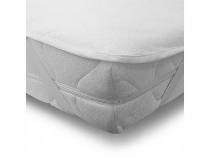 nepremokavé prestieradlo Froté 90x200 cm s polyuretánovým záterom, farba biela