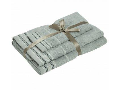 bavlnené froté uteráky Dots light grey