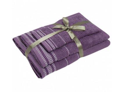 bavlnené froté uteráky Dots grape
