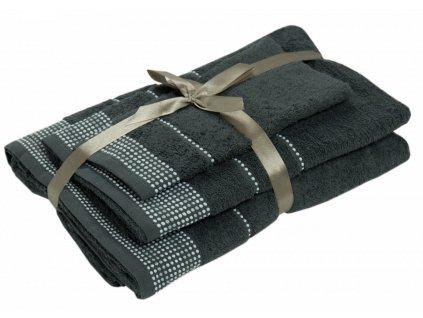 uteráky a osušky Dots antracit