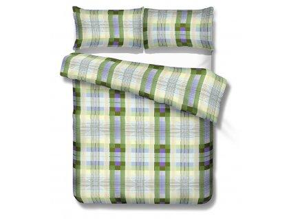 zelené kárované obliečky Edinburg