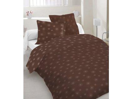 hnedé obliečky so striebornou potlačou Beam