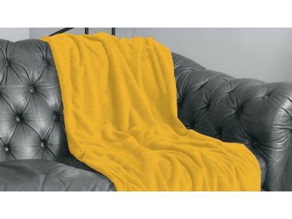 žltá hebká hrejivá deka Velvet deka honey 220x240 cm