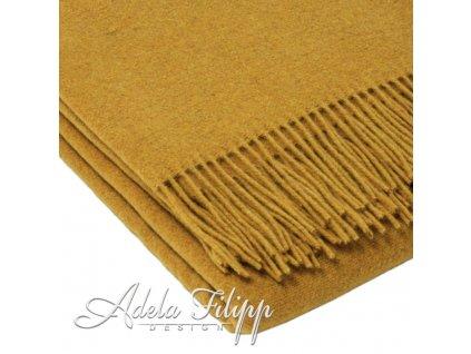 vlnená deka Merino mustard