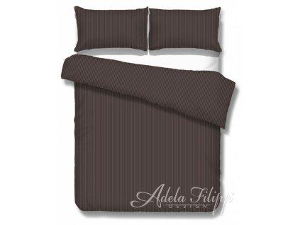 damaškové obliečky Atlas cacao v čokoládovej farbe