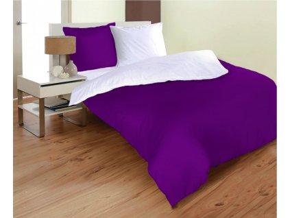 obliečky z mikrovlákna vo fialovej a bielej farbe rozmer 70x90, 140x200 cm na emozzione.sk