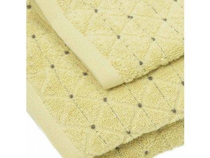 uteráky a osušky Diamond farba žltá detail