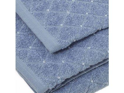 uteráky a osušky Diamond farba svetlomdrá detail