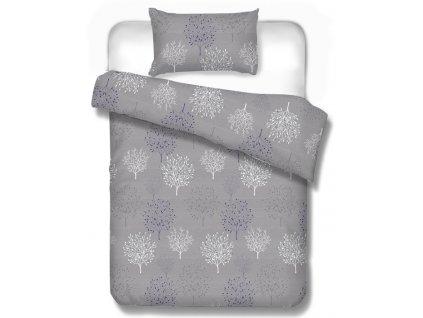 saténové obliečky sivé na francúzsku manželskú posteľ 220x200 cm a 240x210 cm