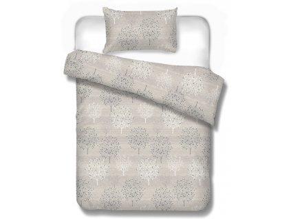 obliečky Toronto beige na manželskú posteľ 220x200 cm aj 240x210 cm v béžovej farbe