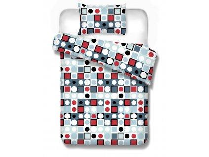bavlnené obliečkz Arizona red geometrické vzory