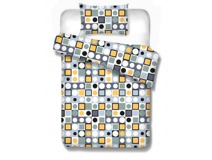 bavlnené obliečky Arizona yellow geometrický vzor