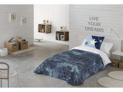 posteľné obliečky s hviezdnou oblohou Universe