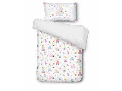detské obliečky sweet fairytale 40x60 100x135 cm