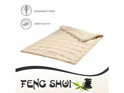 Paplóny Feng Shui 140x200 cm béžová farba