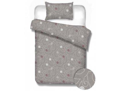 bavlnené obliečky na manželskú posteľ v sivej farbe Dakota