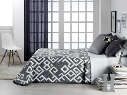 žakárový prehoz na posteľ Kaira grey