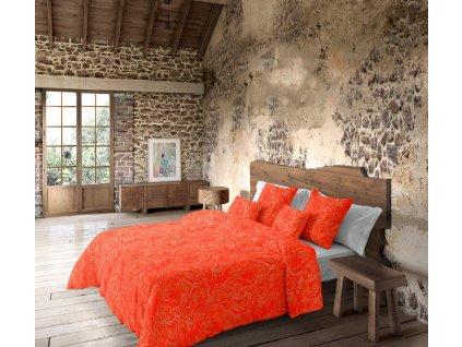obliečky Luxemburg orange z lyocelového vlákna Tencel