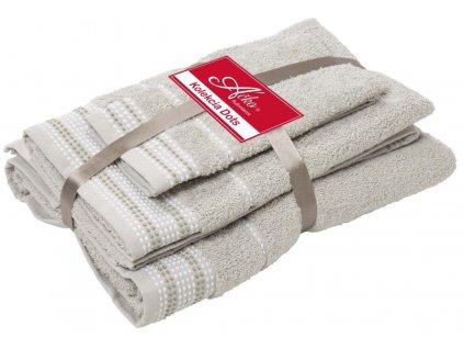 uteráky a osušky Dots linen