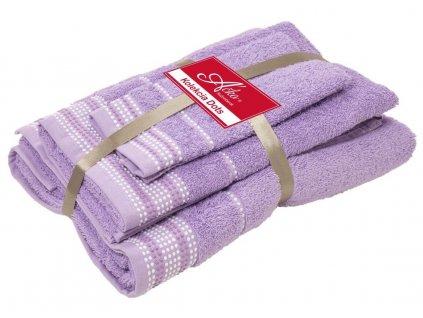 uteráky a osušky Dots levandula