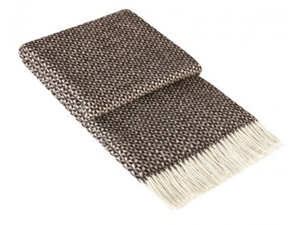PERU BROWN - vlnená deka