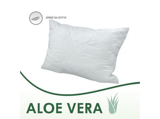 vankúše Aloe Vera biele