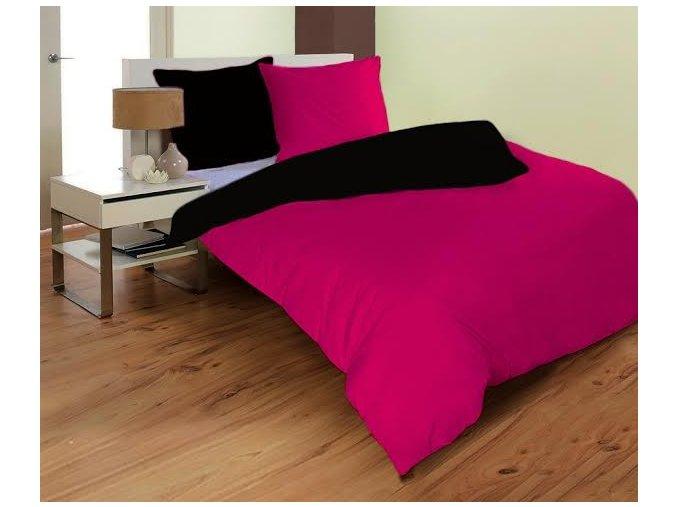 obliečky mikrovlákno farba čierna a cyklamenová 70x90, 140x200 cm na emozzione.sk