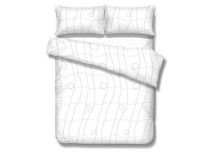 obliečky CURL WHITE - micrometallic 70x90, 140x200 cm Emozzione