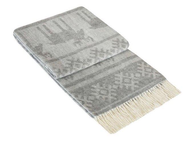 SCANDIC GREY - vlnená deka