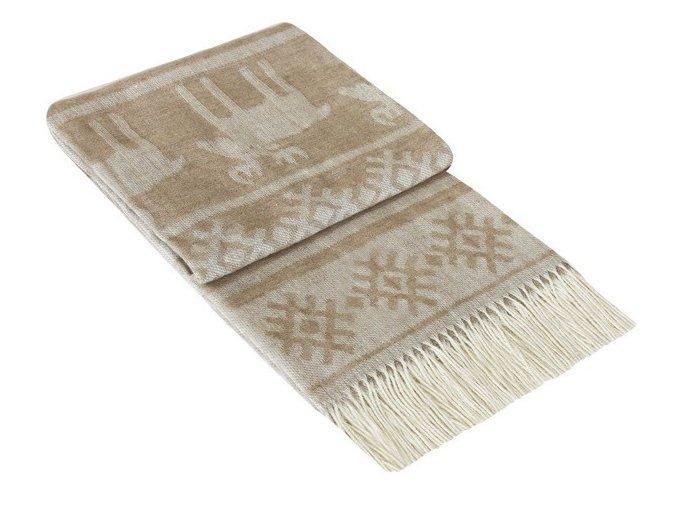 SCANDIC BEIGE - vlnená deka