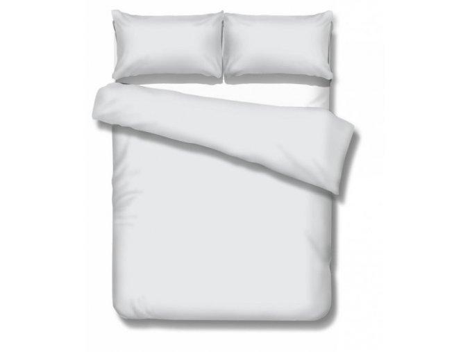 jednofarebné saténové obliečky Satén biely