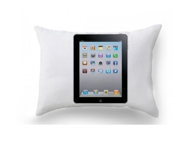 dekoračný vankúš s ipad apple Tablet