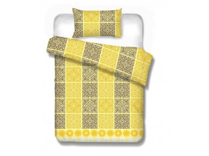 flanelové obliečky Malmo yellow