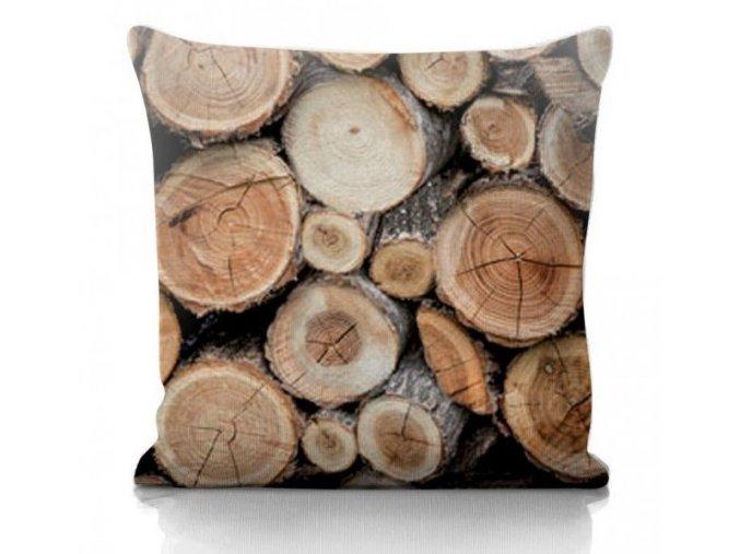 Wood dekoračný vankúš