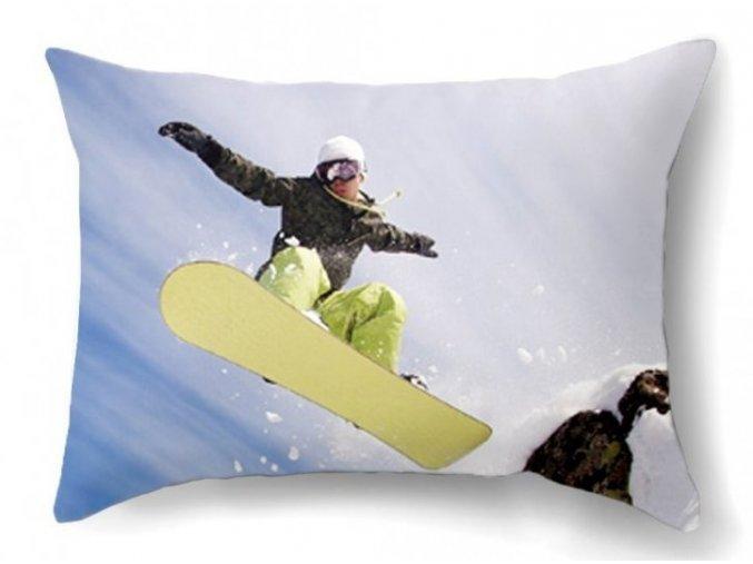 dekoračný vankúš Snowboard