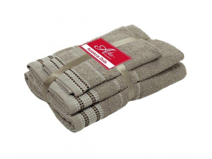 uteráky a osušky Dots taupe