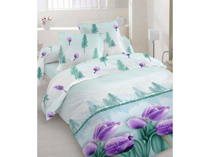 obliečky Tulipán lila