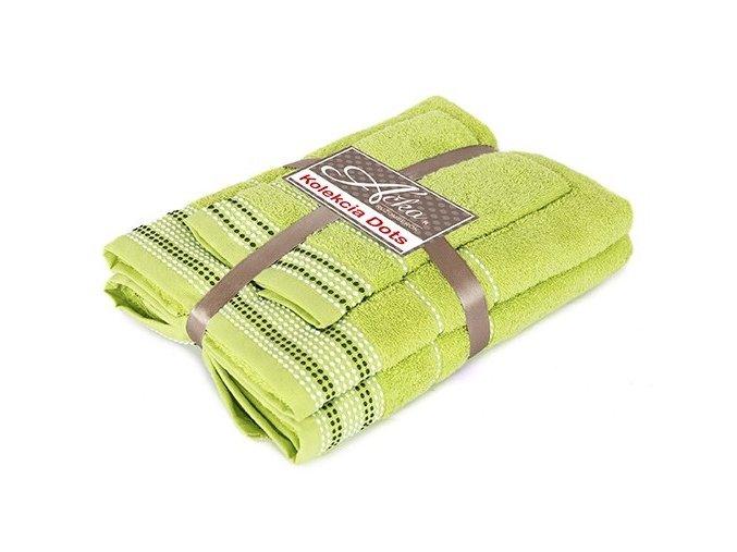 uteráky a osušky Dots grass