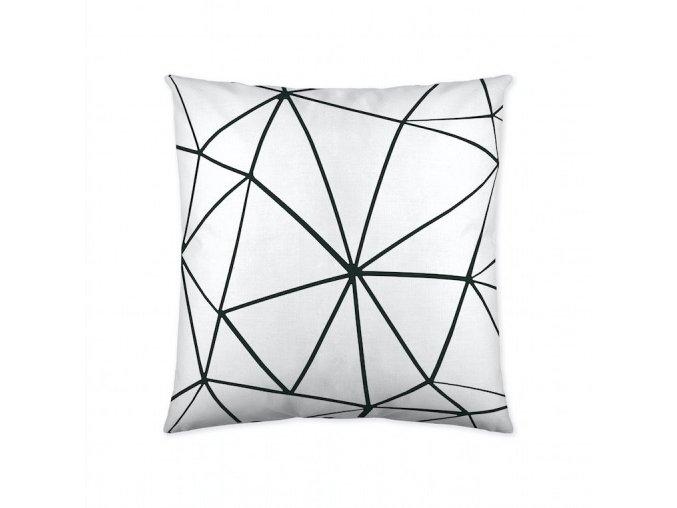 Triangle white dekoračný vankúš 50x50 cm
