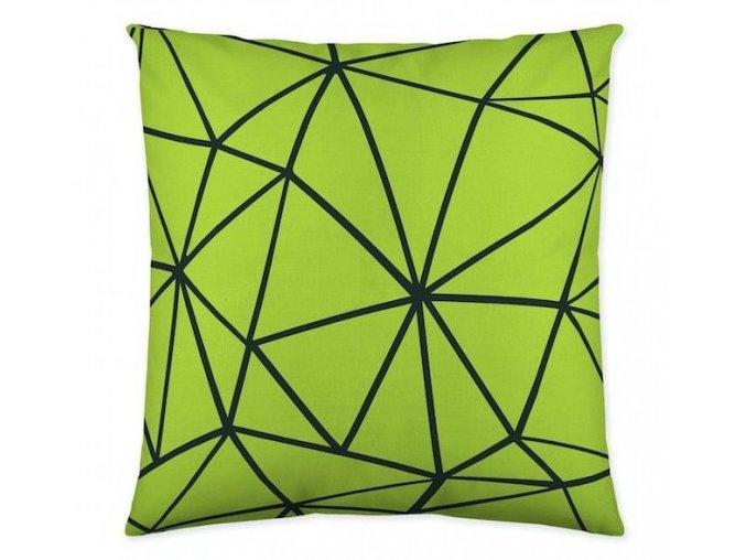 dekoračný vankúš Triangle green 50x50 cm
