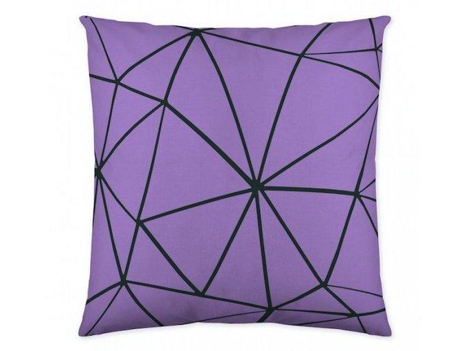 dekoračný vankúš Triangle lila 50x50 cm.