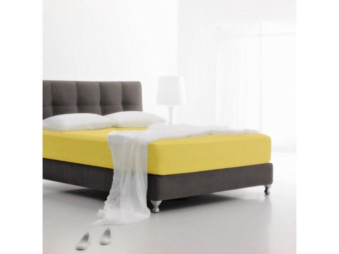 Jersey žltá - napínacie plachta 180x200 cm Emozzione