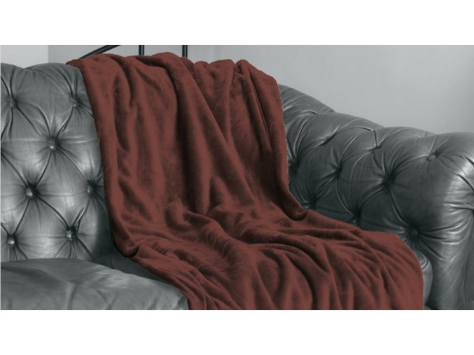 Hebká velvetová deka v hnedej farbe Velvet Choco 150x200 cm