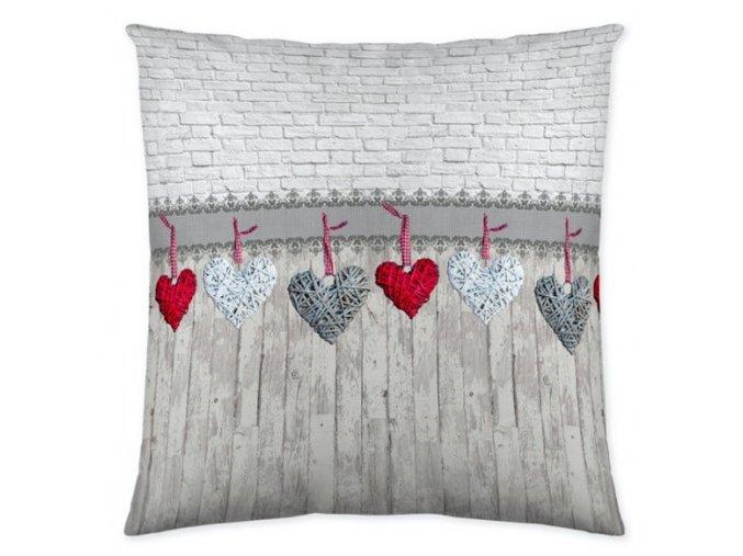 vankúš Hearts grey 45x45 cm