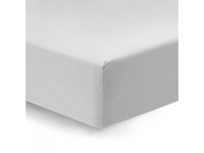 napínacie prestieradlo Satén biely s gumičkou detail