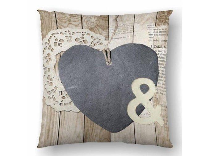 vankúš Hearts Marina 45x45 cm
