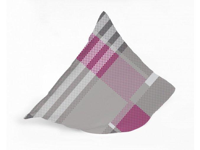 le mans grey pink návliečky 40x40