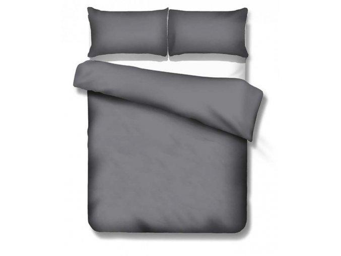 jednofarebná saténová obliečka Dark grey