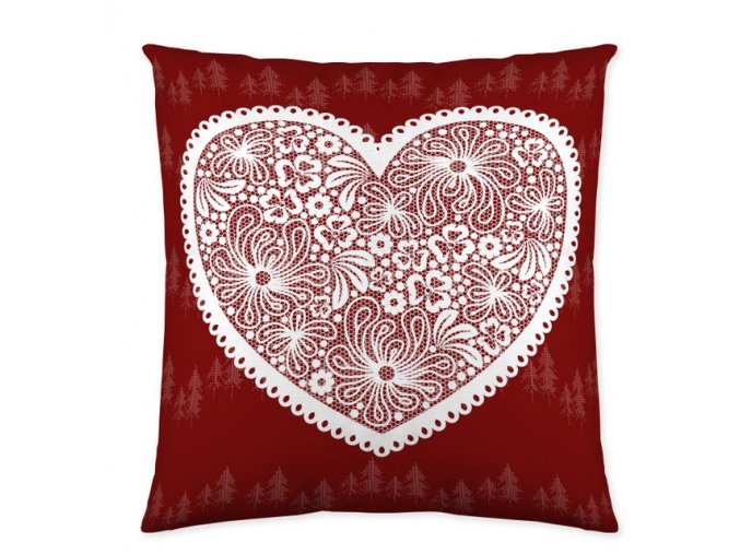 dekoračný vankúš Lily red 45x45 cm
